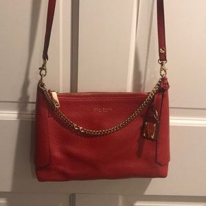 Henri Bendel Red & gold bag NWT